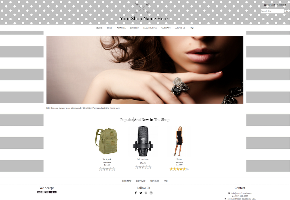 DIY STYLE 2: 1200PX WIDTH CONTENT - FULL WIDTH HEADER AND FOOTER - NO LEFT COLUMN - PAGE BACKGROUND - LOGO INSIDE HEADER