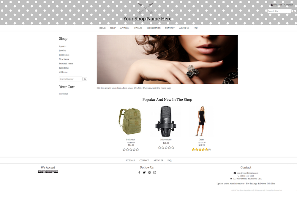 DIY STYLE 5: FULL WIDTH CONTENT - FULL WIDTH HEADER AND FOOTER - LEFT COLUMN - NO PAGE BACKGROUND - LOGO INSIDE HEADER